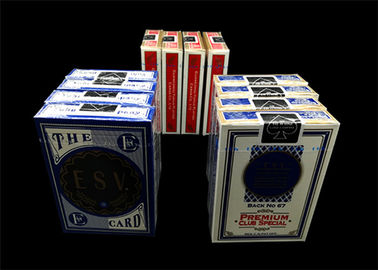Double Poker Coating Casino Cards , Paper / Plastic High End Playing Cards